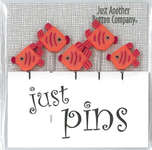 Click for more details of Orange Fish Pins (Set of 5) (beads and treasures) by Just Another Button Company