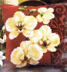 Click for more details of Orchid Cushion Front (tapestry) by Vervaco