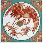 Click for more details of Oriental Crane (cross stitch) by Lesley Teare