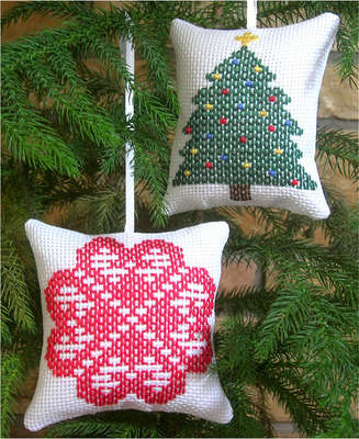 Click for more details of Ornaments 3 Heart/Tree (swedish weaving) by Swedish Weave Designs