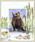 Click for more details of Otter (cross stitch) by Rose Swalwell