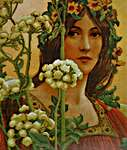 Click for more details of Our Lady of Cow Parsley (after Elisabeth Sontel) (no-count cross stitch) by Needleart World