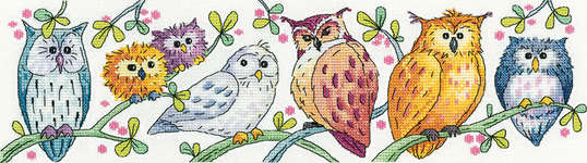 Click for more details of Owls on Parade (cross stitch) by Karen Carter