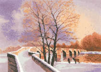 Click for more details of Packhorse Bridge (cross stitch) by John Clayton