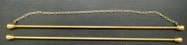 Click for more details of Pair of Brass Bellpull Hangers (bell pulls) by Permin of Copenhagen