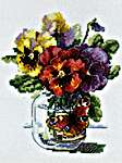 Click for more details of Pansies and Butterfly (cross stitch) by Merejka