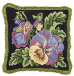 Click for more details of Pansy Cushion (tapestry kit) by Glorafilia