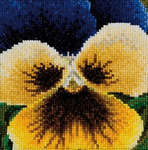 Click for more details of Pansy - Dark Blue and Yellow (cross stitch) by Thea Gouverneur