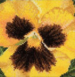 Click for more details of Pansy - Large Yellow (cross stitch) by Thea Gouverneur