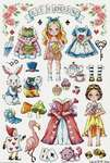 Click for more details of Paper Doll - Alice in Wonderland (cross stitch) by Soda Stitch