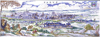 Click for more details of Paris (cross stitch) by Eva Rosenstand