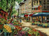 Click for more details of Paris Market (cross stitch) by Dimensions
