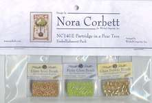 Click for more details of Partridge in a Pear Tree Embellishment Pack (beads and treasures) by Nora Corbett