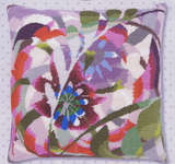Passion Flower Cushion Front