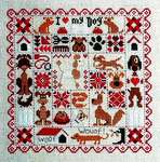 Click for more details of Patchwork aux Chiens (cross stitch) by Jardin Prive