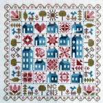 Click for more details of Patchwork Houses (cross stitch) by Jardin Prive