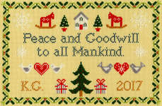 Click for more details of Peace and Goodwill (cross stitch) by Bothy Threads