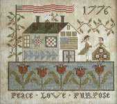 Click for more details of Peace, Love and Purpose (cross stitch) by Plum Street Samplers