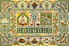 Click for more details of Peaceful Garden (cross stitch) by Bothy Threads