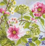 Click for more details of Peonies (cross-stitch kit) by Lanarte
