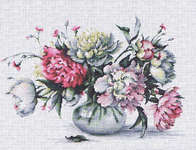 Click for more details of Peonies (cross stitch) by Luca - S