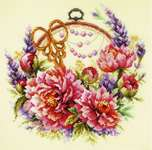 Click for more details of Peonies for Needlewoman (cross stitch) by Magic Needle