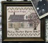 Click for more details of Philip Foster Farmhouse (cross stitch) by Heartstring Samplery