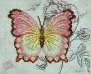 Click for more details of Pink Butterfly (beadwork) by VDV
