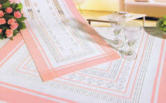 Click for more details of Pink Hardanger Flowers Table Toppers (hardanger kit) by Rico Design
