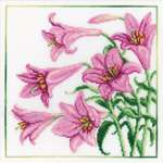 Click for more details of Pink Lilies (cross stitch) by RTO