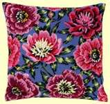 Click for more details of Pink Rose Cushion Front (tapestry) by Permin of Copenhagen