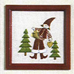 Click for more details of Pixie with Christmas Trees Picture (embroidery) by Rico Design