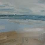 Click for more details of Pladda from Kilmory on Arran (oil on canvas) by Yvonne Healy
