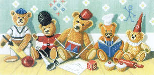 Click for more details of Playschool (cross-stitch kit) by Lanarte