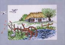 Click for more details of Plough and Duck Pond (cross stitch) by Permin of Copenhagen