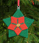 Click for more details of Poinsettia Christmas Ornament (tapestry) by Anne Peden