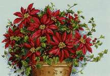 Click for more details of Poinsettia (cross stitch) by Merejka