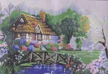 Click for more details of Pond in The Garden (tapestry) by Grafitec