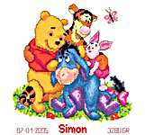 Click for more details of Pooh and Friends - Big Hug (cross stitch) by Disney by Vervaco