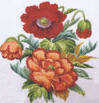 Click for more details of Poppies (cross stitch) by Permin of Copenhagen
