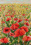 Click for more details of Poppies in Wheat Field (cross stitch) by Permin of Copenhagen