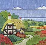 Click for more details of Poppy Cottage (long-stitch) by Rose Swalwell