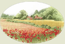 Click for more details of Poppy Farm (cross-stitch kit) by John Clayton