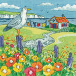 Click for more details of Poppy Shore (cross stitch) by Karen Carter