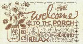 Click for more details of Porch Welcome (cross stitch) by Imaginating
