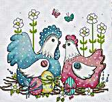 Click for more details of Pretty Chickens (cross stitch) by Les Petites Croix de Lucie