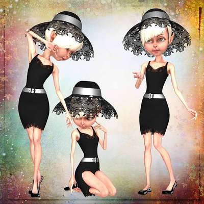 Click for more details of Pretty Ladies3 (digital downloads) by DawnsDesigns