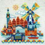 Click for more details of Pretty Little Amsterdam (cross stitch) by Satsuma Street
