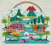 Click for more details of Pretty Little Hawaii (cross stitch) by Satsuma Street