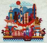 Click for more details of Pretty Little Hong Kong (cross stitch) by Satsuma Street